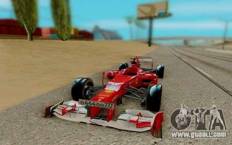 Ferrari Scuderia F2012 for GTA San Andreas back view