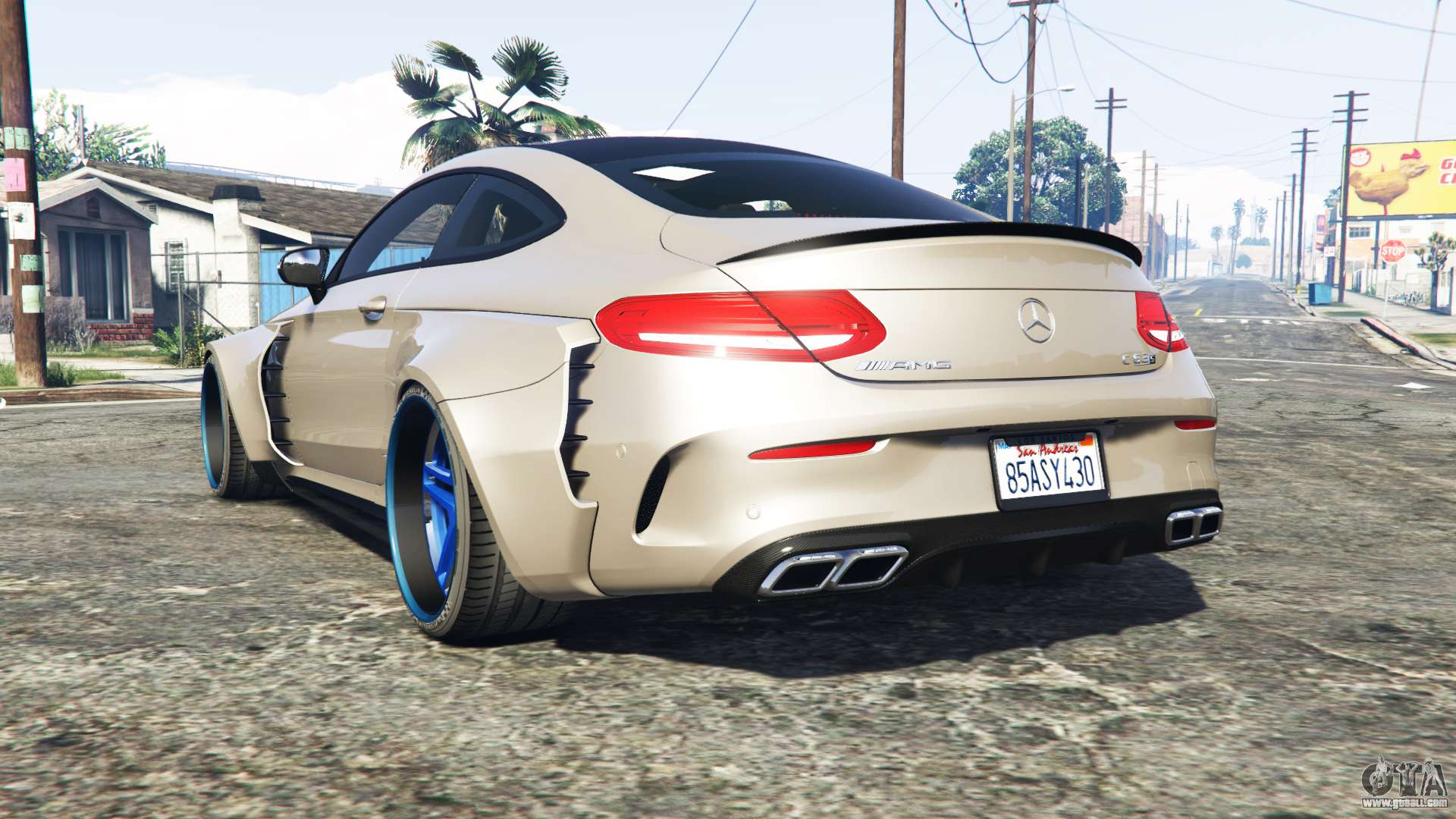 Mercedes benz c 63 s amg widebody add on for gta 5 for Mercedes benz add