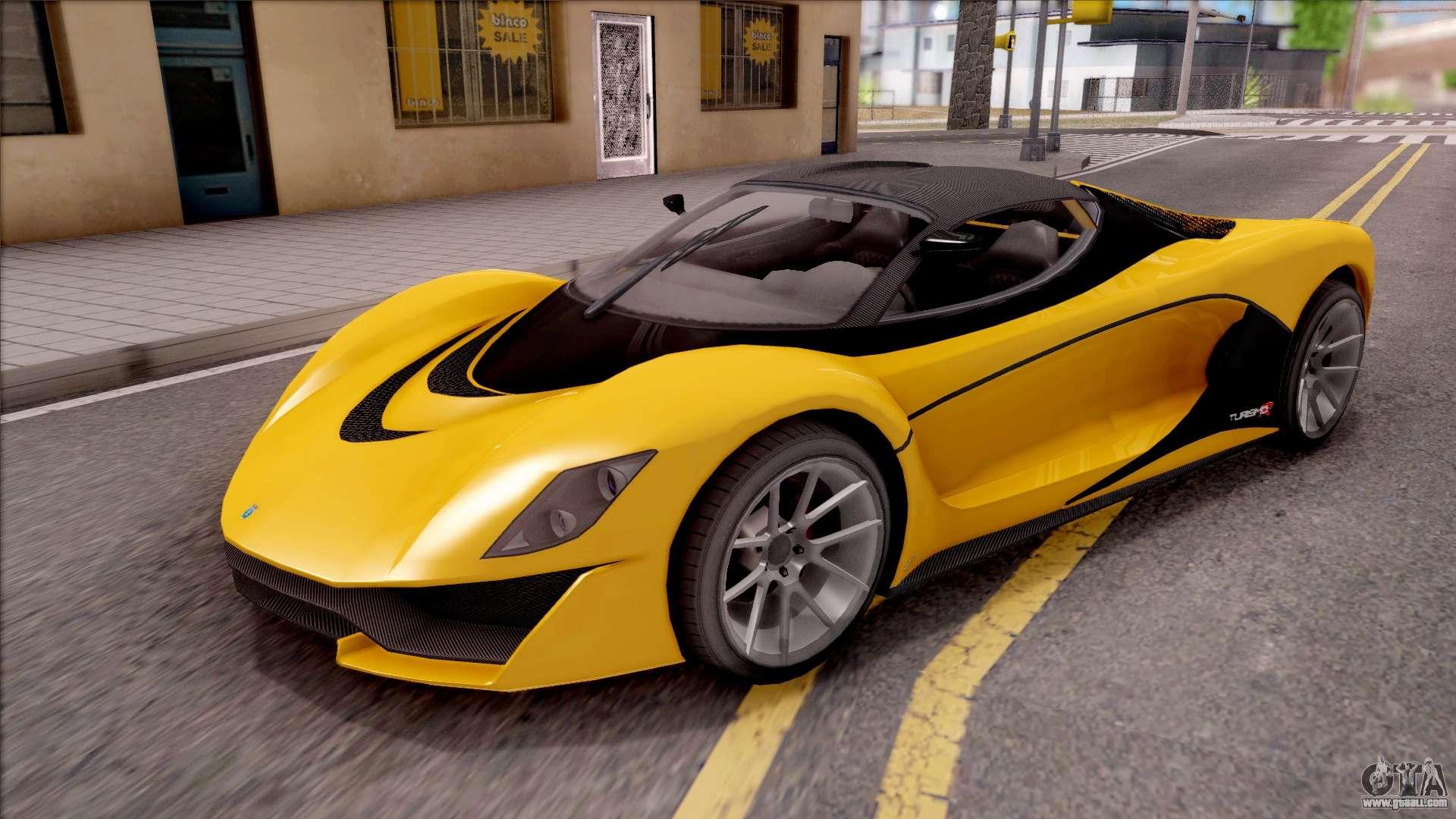 Turismo Car: Grotti Turismo R From GTA V For GTA San Andreas