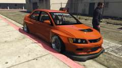 Mitsubishi Lancer Evolution IX Clinched for GTA 5