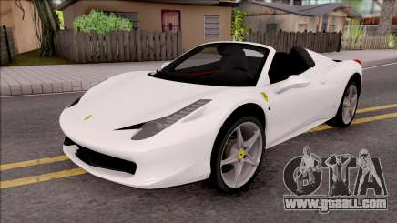 Ferrari 458 Italia Spider for GTA San Andreas