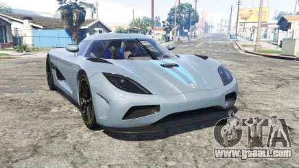 Koenigsegg Agera N 2011 [replace] for GTA 5