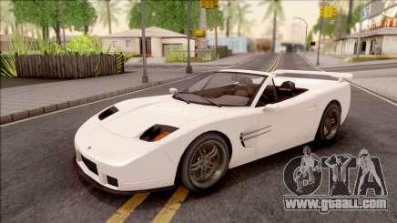 GTA IV Invetero Coquette Spyder IVF for GTA San Andreas