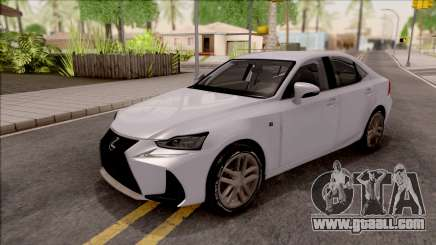 Lexus IS XE30 200t F Sport 2017 for GTA San Andreas
