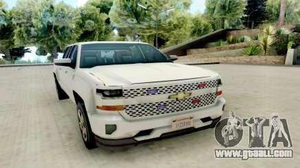 Chevrolet SIlverado 2017 Undercover Police for GTA San Andreas