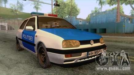 Volkswagen Golf Mk3 Estonian Police for GTA San Andreas