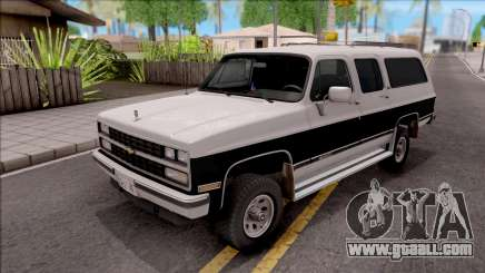 Chevrolet Suburban 1989 IVF for GTA San Andreas