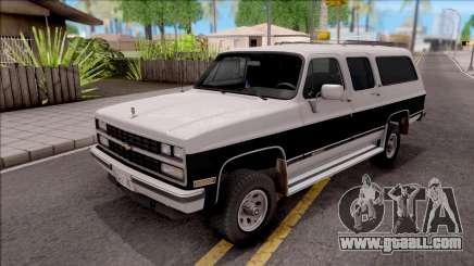 Chevrolet Suburban 1989 IVF for GTA San Andreas