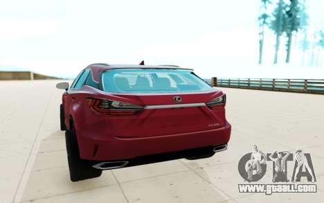 Lexus RX350 for GTA San Andreas
