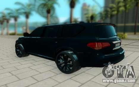 Infiniti QX56 for GTA San Andreas back left view