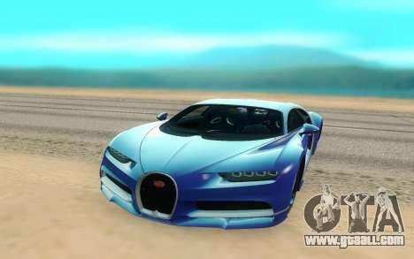 Bugatti Chiron for GTA San Andreas right view