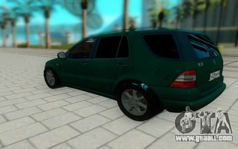 Mersedes-Benz ML 230 for GTA San Andreas back left view