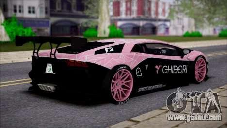 Lamborghini Aventador v1 for GTA San Andreas left view