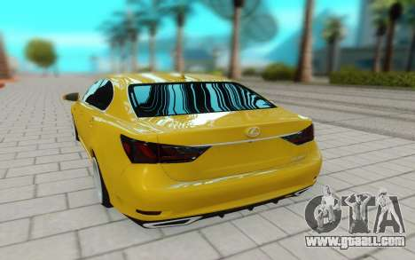 Lexus GS 350F for GTA San Andreas back view