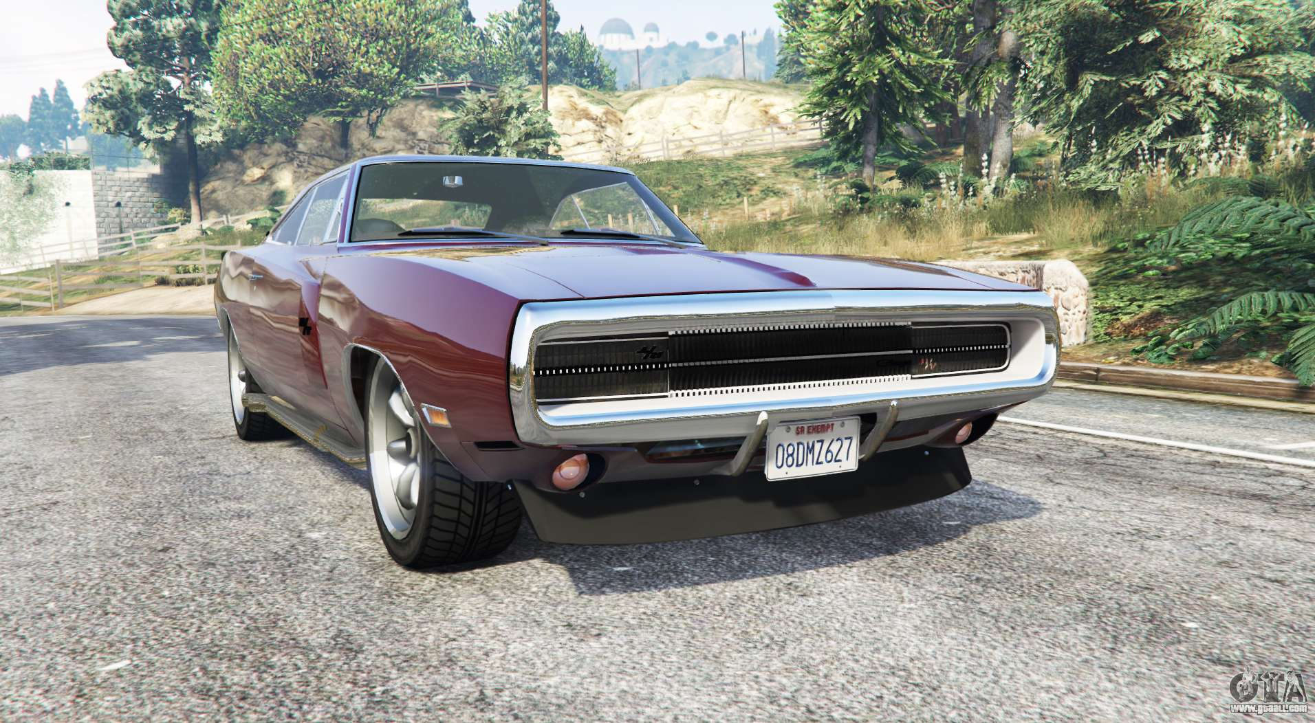 dodge charger rt se xs29 1970 replace for gta 5. Black Bedroom Furniture Sets. Home Design Ideas