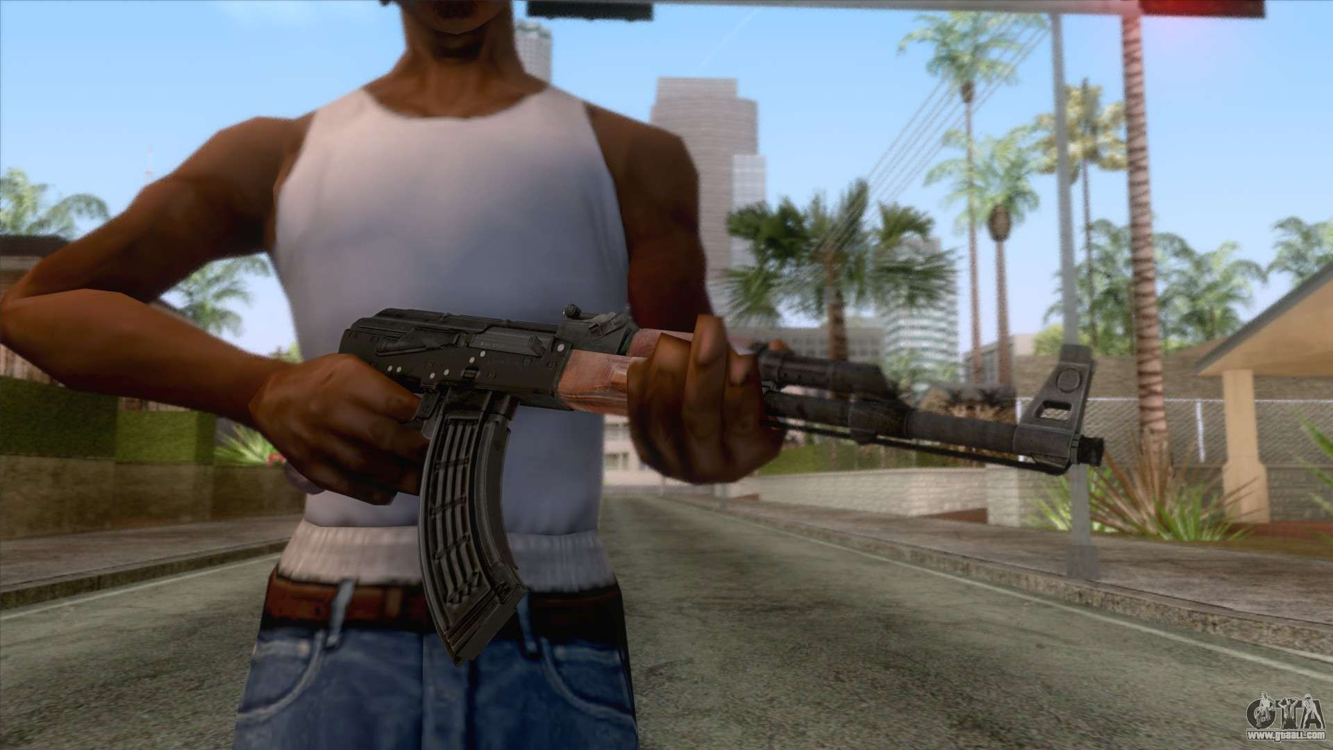 AK-47 With no Stock v1 for GTA San Andreas
