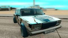 VAZ 2107 white for GTA San Andreas