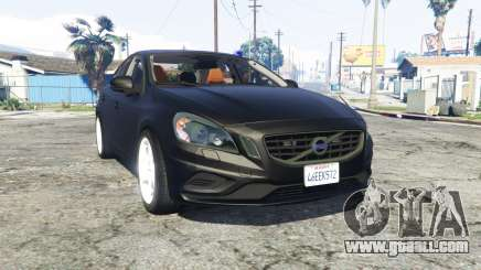 Volvo S60 unmarked police [replace] for GTA 5