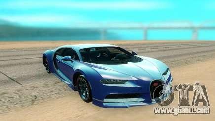Bugatti Chiron turquoise for GTA San Andreas