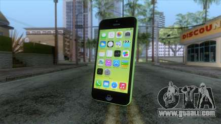 iPhone 5C Green for GTA San Andreas