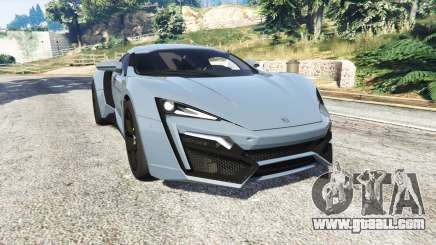 W Motors Lykan HyperSport 2014 v1.3 [replace] for GTA 5