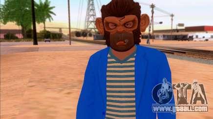 Monkey Mask for GTA San Andreas