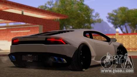 Lamborghini Huracan Pamdem Kit for GTA San Andreas left view