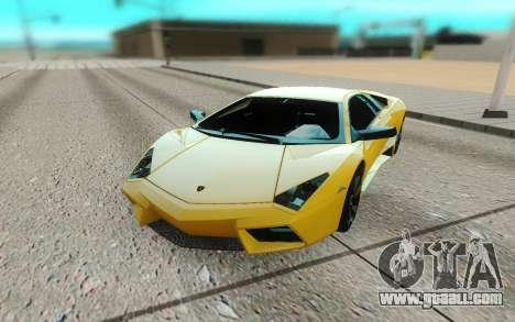 Lamborghini Reventon for GTA San Andreas back view