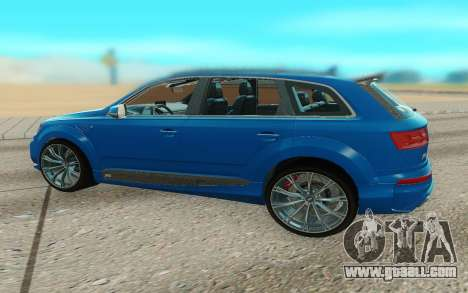 Audi Q7 ABT for GTA San Andreas back left view