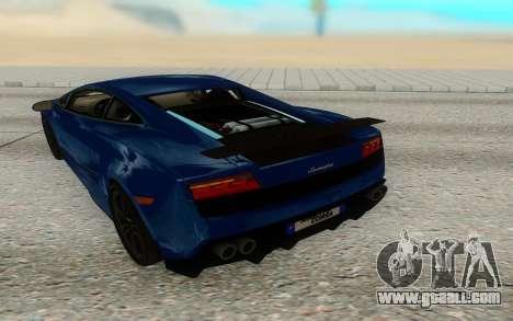 Lamborghini Gallardo Superleggera for GTA San Andreas right view