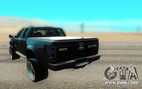 Ford 150 Raptor 2012 for GTA San Andreas back view