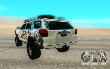 Toyota FJ Cruiser 4 Runner for GTA San Andreas back view