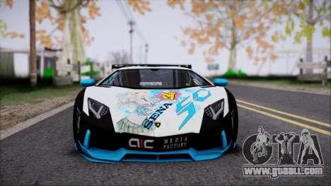 Lamborghini Aventador v3 for GTA San Andreas right view