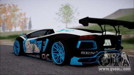 Lamborghini Aventador v3 for GTA San Andreas back left view