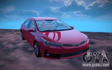 Toyota Corolla 2018 for GTA San Andreas