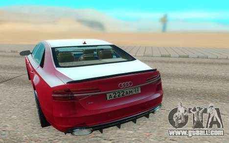 Audi S8 TMT for GTA San Andreas back left view