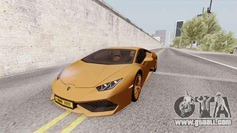 Lamborghini Huracan Dubai for GTA San Andreas