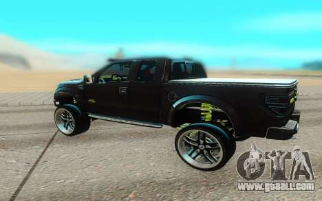 Ford 150 Raptor 2012 for GTA San Andreas back left view