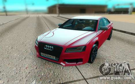 Audi S8 TMT for GTA San Andreas back view