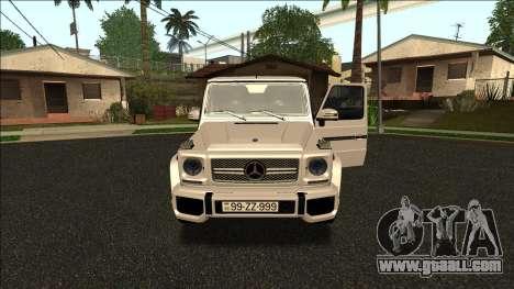 Mercedes-Benz G65 Azerbaijan Edition for GTA San Andreas
