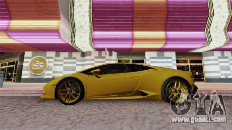 Lamborghini Huracan Dubai for GTA San Andreas right view