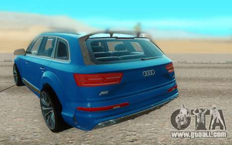 Audi Q7 ABT for GTA San Andreas back view