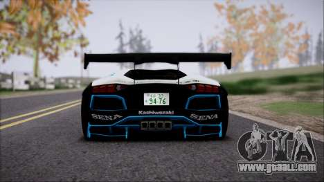 Lamborghini Aventador v3 for GTA San Andreas back view