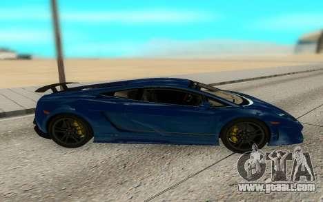 Lamborghini Gallardo Superleggera for GTA San Andreas left view