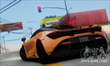 McLaren 720S for GTA San Andreas left view