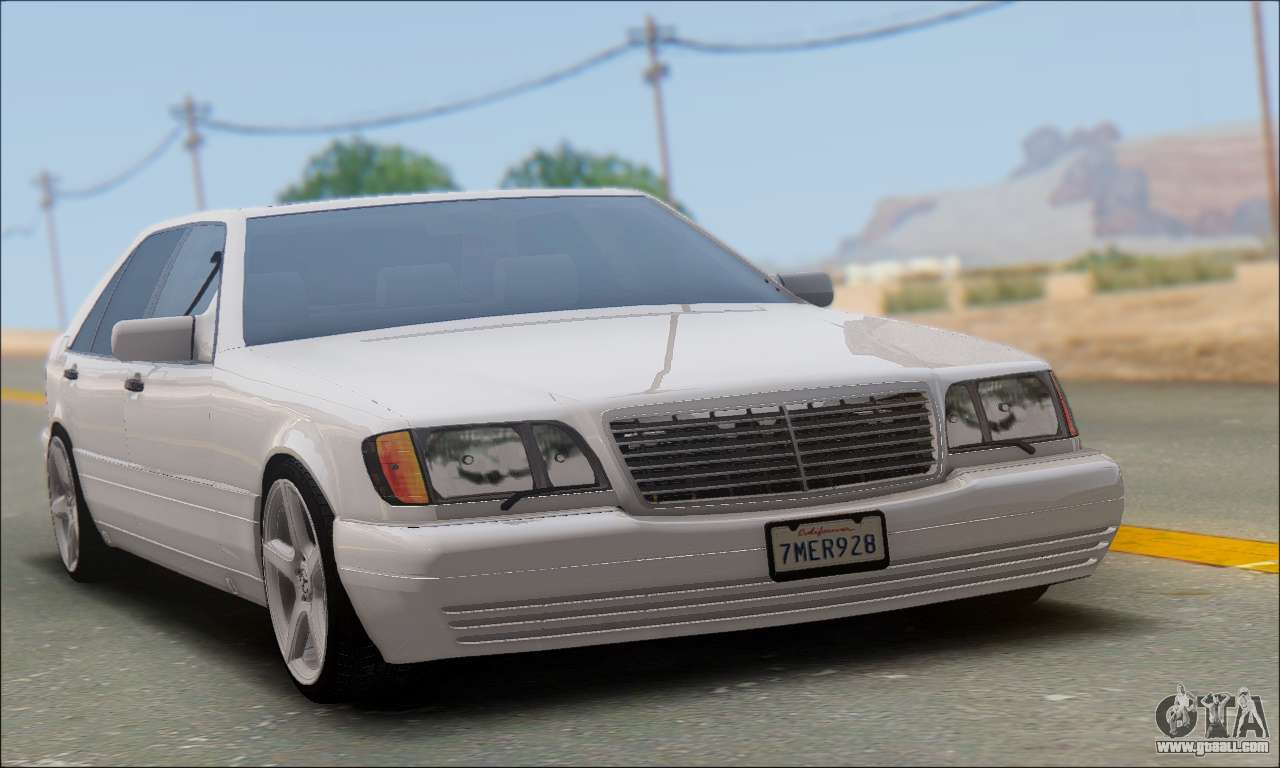 mercedes benz w140 s600 tuning for gta san andreas. Black Bedroom Furniture Sets. Home Design Ideas