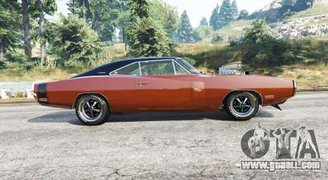 GTA 5 Dodge Charger RT (XS29) 1970 v4.0 [replace] left side view