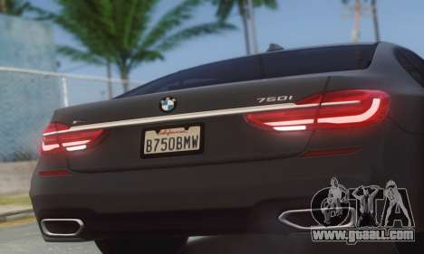 BMW 750i for GTA San Andreas back left view