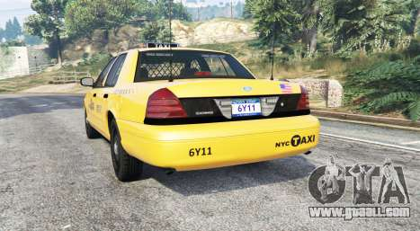 GTA 5 Ford Crown Victoria Undercover Police [replace] rear left side view