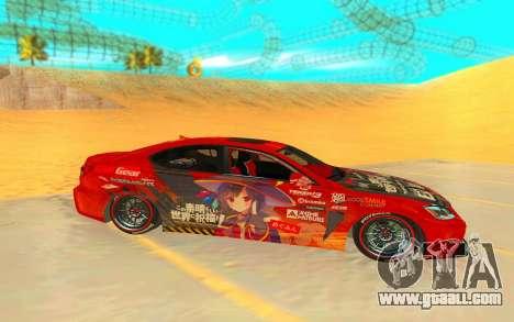 2009 Lexus ISF for GTA San Andreas